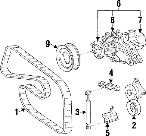 MAINTENANCE & LUBRICATION/BELTS & PULLEYS for 1996 Toyota Supra #1