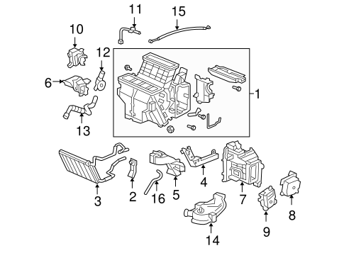 OEM Honda 79106-SHJ-A41 - Heater Assembly