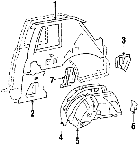 Outer Wheelhouse - Toyota (61632-14140)