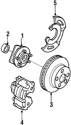 oem front brakes for 1996 chevrolet lumina apv