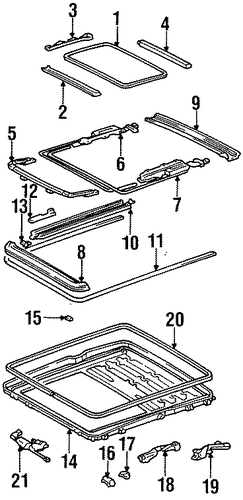 ELECTRICAL/SUNROOF for 1997 Toyota Avalon #2