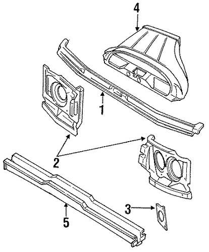 Mount Panel Seal - Toyota (53293-28010)