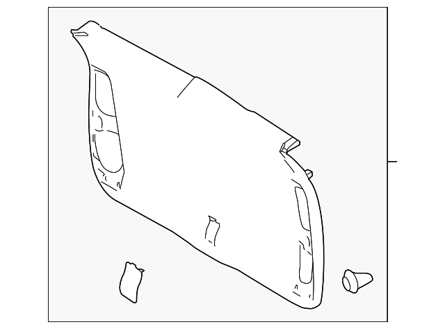 Lower Trim Panel - Toyota (64780-0E070-A0)
