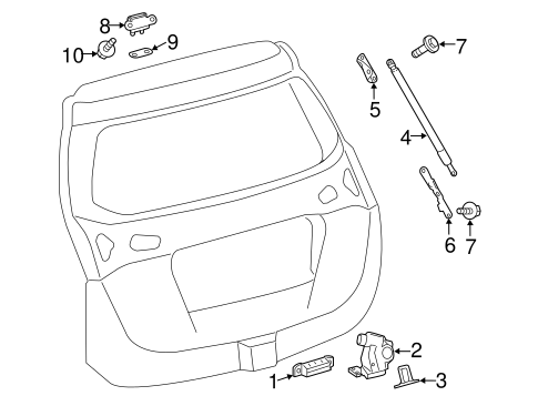 ELECTRICAL/LIFTGATE for 2015 Toyota RAV4 #1