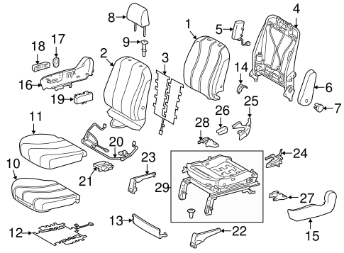 BODY/FRONT SEAT COMPONENTS for 2013 Toyota Sienna #2