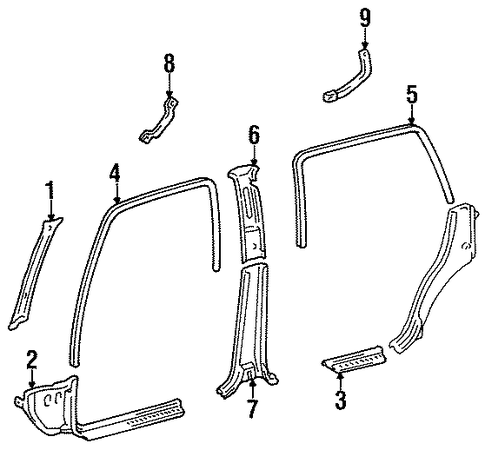 Center Pillar Trim - Toyota (62413-60011-B0)
