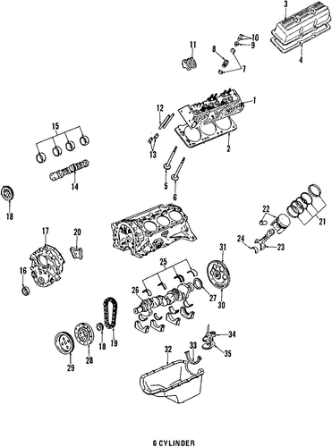 engine 1988 pontiac fiero oem  u2013 new gm parts