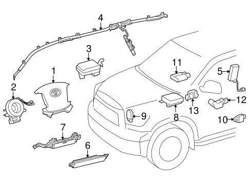 ELECTRICAL/AIR BAG COMPONENTS for 2012 Toyota Sequoia #1