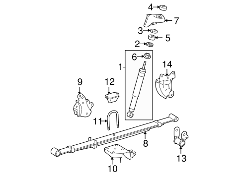 REAR SUSPENSION/REAR SUSPENSION for 2007 Toyota Tacoma #1