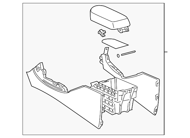Console Assembly - Toyota (58901-0R010-B4)