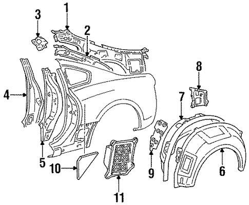 Inner Quarter Panel - Toyota (61614-14900)