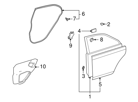BODY/DOOR & COMPONENTS for 2009 Toyota Corolla #2