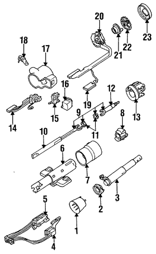 oem steering column components for 1993 oldsmobile cutlass