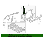 1997 Honda CIVIC SEDAN LX (A/C) STIFFENER, L. CENTER PILLAR - (63610S04A00ZZ)