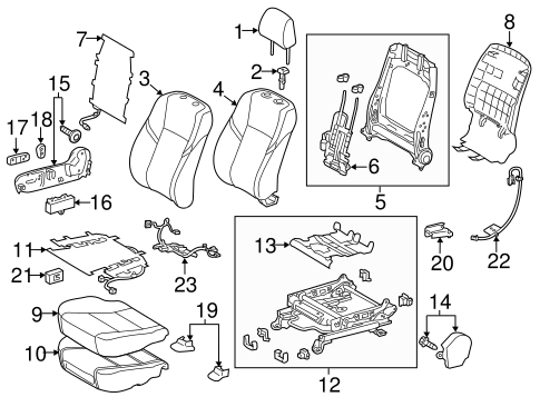 BODY/PASSENGER SEAT COMPONENTS for 2014 Toyota Avalon #2