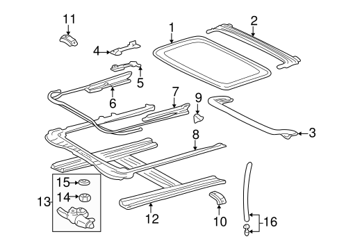 Rail Assembly - Toyota (63202-08010)