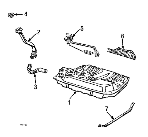 OEM Honda 17651-SB0-000 - Tube, Filler Neck Connecting