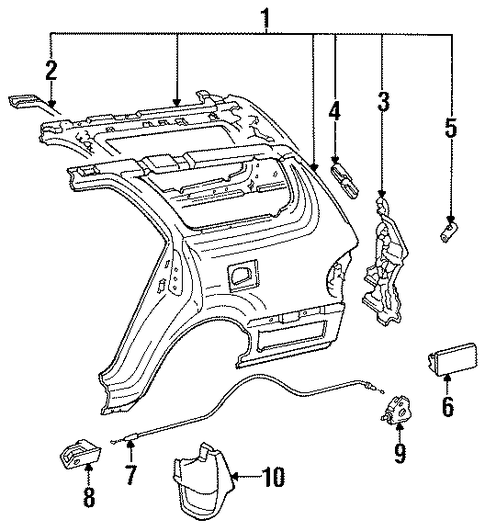 Drip Channel - Toyota (61267-06020)