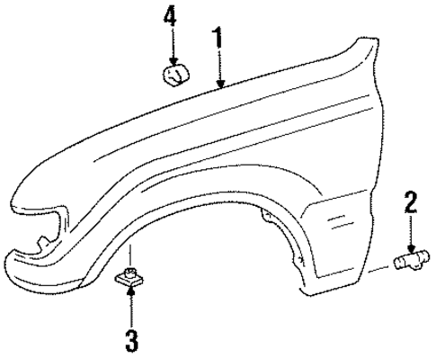 BODY/FENDER & COMPONENTS for 1997 Toyota Land Cruiser #1