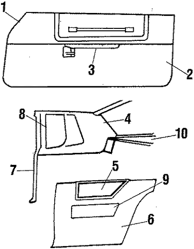 oem interior trim for 1986 chevrolet monte carlo