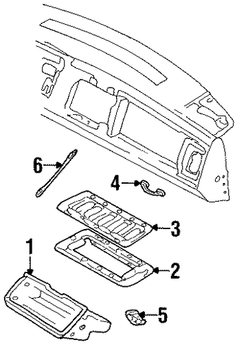glove box parts for 1990 gmc k1500 pickup