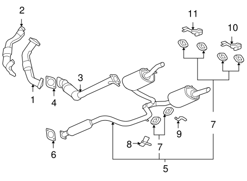 exhaust components for 2006 chevrolet impala  lt