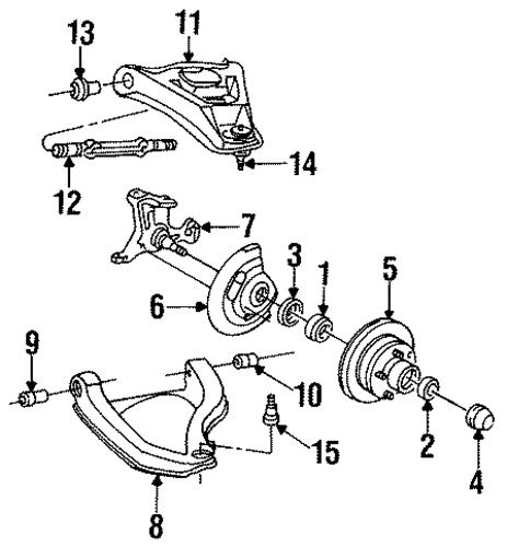 1996 Oldsmobile 98 Suspension: GM Brake Rotors - Genuine GM Parts
