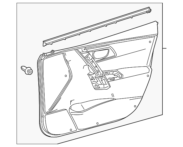 Door Trim Panel - Toyota (67620-12P80-C1)