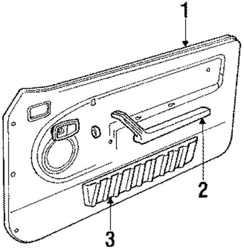 door trim panel for 1984 ford mustang