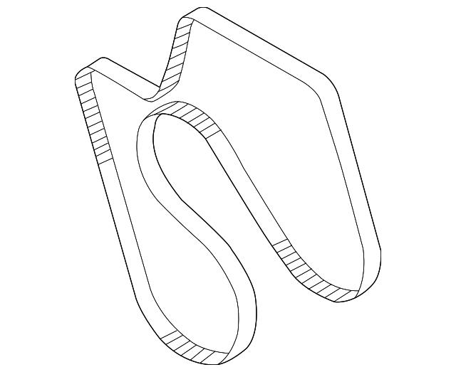 Serpentine Belt For 2003 Gmc Sierra 2500 Hd