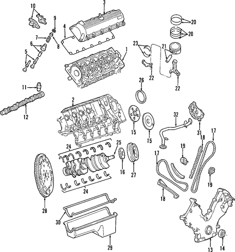 engine parts for 1997 ford e
