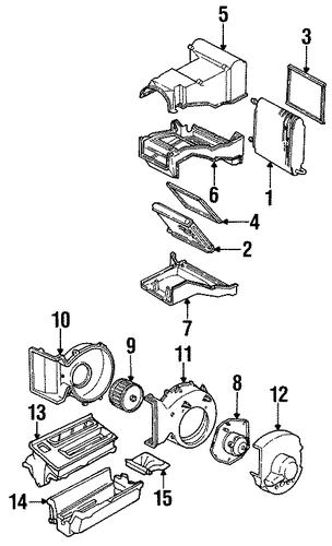 oem evaporator  u0026 heater components for 1993 chevrolet