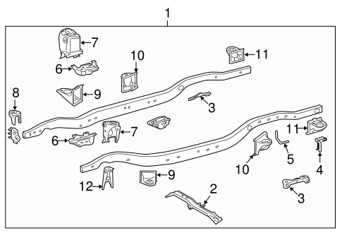 BODY/FRAME & COMPONENTS for 2013 Toyota Land Cruiser #2