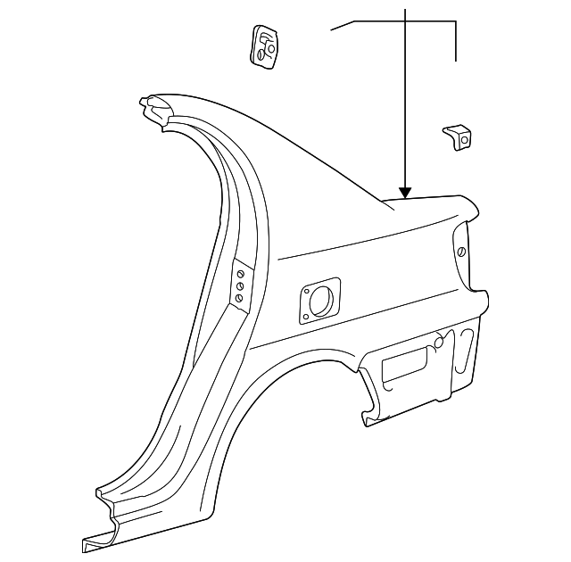Quarter Panel - Toyota (61601-52370)