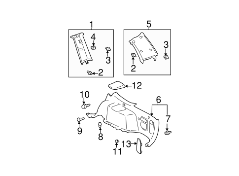 Upper Quarter Trim Clamp - Toyota (62480-48030-A0)
