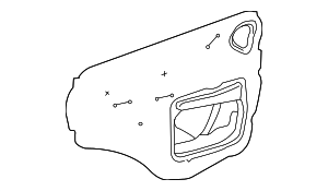 Water Deflector - Toyota (67831-02241)