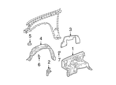 BODY/INNER COMPONENTS for 1996 Toyota Tacoma #1