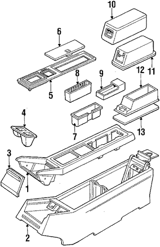 oem console for 1990 cadillac eldorado