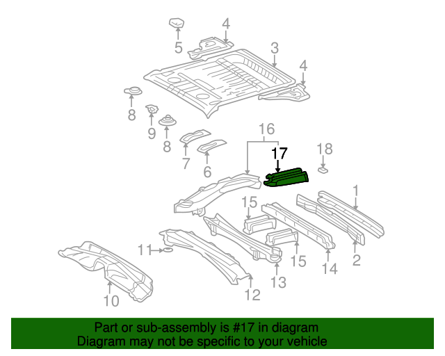Side Rail Assembly Extension - Toyota (57615-42903)