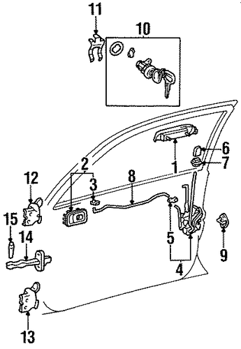 BODY/DOOR for 1997 Toyota Tercel #1