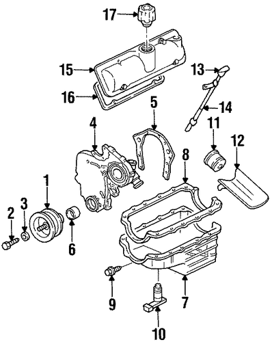 engine parts for 1996 chevrolet lumina