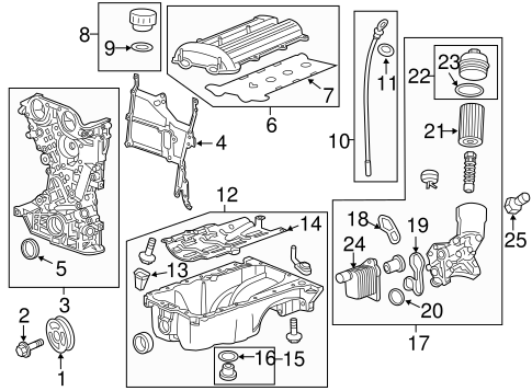 oem engine parts for 2016 chevrolet cruze limited