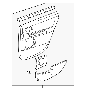 Door Trim Panel - Toyota (67640-AC090-E2)