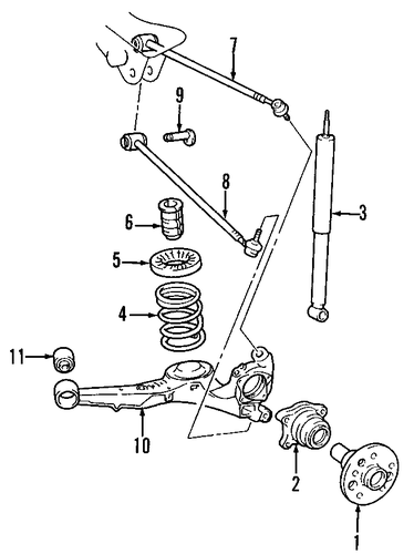 REAR SUSPENSION/REAR SUSPENSION for 2001 Toyota RAV4 #1