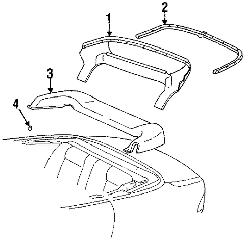 BODY/STORAGE COMPARTMENT COVER for 1999 Toyota Celica #1