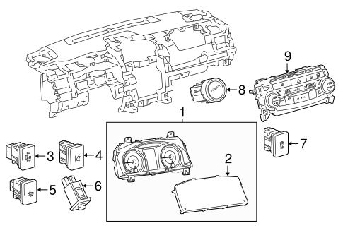 BODY/CLUSTER & SWITCHES for 2015 Toyota Camry #1