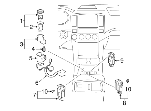 BODY/SWITCHES for 2009 Toyota 4Runner #1