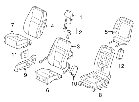 OEM Honda 81144-SDA-A01ZW - Headrest Guide