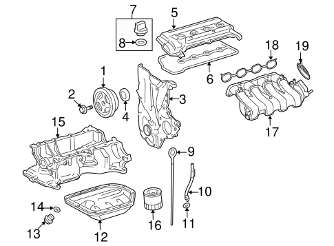 ENGINE/ENGINE PARTS for 2016 Toyota Yaris #1