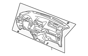 OEM Honda 77108-SHJ-A01ZA - Panel Assembly, Instrument *G64L* (Olive)